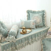 欧式绗缝飘窗垫窗台垫坐垫布艺加厚机洗榻榻米北欧k