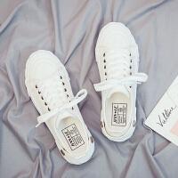 帆布鞋 女士ins低帮布面小白鞋2020春夏季新款韩版时尚女式透气平底休闲学生鞋子