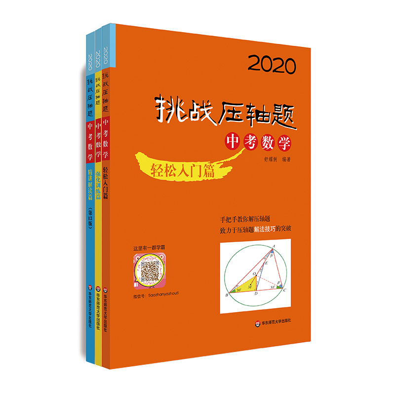 2020挑战压轴题·中考数学套装全三册(轻松入门篇+精讲解读篇+强化训练篇)