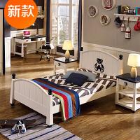 家具�和�床青少年�和�床�和��P室家具 巨石城堡 白色+�{色 1500mm*2000mm 不��