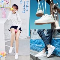 春季新款【真皮】软底舒适时尚学生运动鞋深口百搭休闲鞋女小白鞋