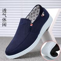 老北京布鞋男春夏透气潮鞋懒人一脚蹬中年男士休闲男鞋帆布鞋
