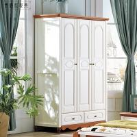 美式�l村家具�和��扇�四�T衣�缓��s�ξ镆�� 全��木�P室衣柜 全��木衣柜