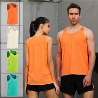 运动速干背心男女跑步无袖上衣宽松运动休闲训练薄款