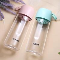 苏泊尔BB杯儿童夏天随手杯子塑料杯学生清新创意便携防摔水杯少女