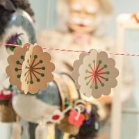 孩派 纸彩旗 缤纷花朵立体纸彩旗 拉花生日节庆 派对聚会装饰