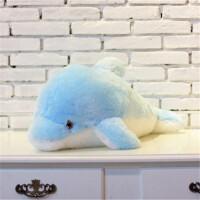 大号海豚毛绒玩具公仔发光音乐抱枕可爱枕头儿童生日礼物女生定制