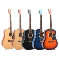 吉他40 41寸民谣单板吉他38 39寸圆角男女生左手考级电箱吉他