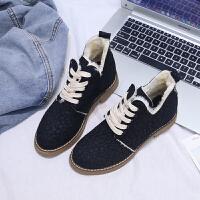 马丁靴女英伦风2018秋季新款韩版短筒学生复古靴子网红磨砂短靴潮