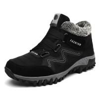 冬季大码妈妈鞋老人户外运动保暖加绒加大号滑旅游爸爸雪地棉鞋
