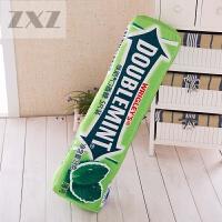 仿真绿箭口香糖抱枕创意枕头毛绒玩具儿童节生日礼物靠垫午睡枕头