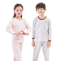 儿童家居服套装男女童空调服春夏薄款睡衣睡裤中大童