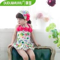 新款儿童泳衣韩版分体中大童游泳衣女孩连体公主裙式宝宝泳衣