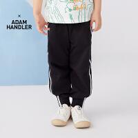 【秒杀价:153元】马拉丁童装男大童裤子2020夏装新款侧边织带螺纹休闲运动针织长裤