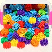 儿童力拼装大号齿轮花片玩具男孩幼儿园拼插积木3-4-5-6周岁