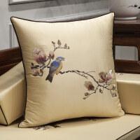 中式红木沙发抱枕靠垫刺绣枕套1035中国风靠背家用客厅靠枕含芯
