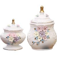 陶瓷摆件家居美式装饰品摆设中式储物罐工艺品欧式客厅酒柜电视柜