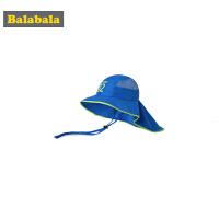 巴拉巴拉儿童帽子男童潮夏装2019新款女童遮阳防晒盆帽透气太阳帽