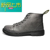 新品上市@港仔文艺男 春季工装鞋男户外复古沙漠靴子皮高帮马丁靴