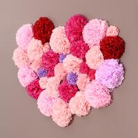 创意婚房装饰拉花新房背景墙道具套装婚礼生日布置用品纸花球