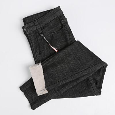 加绒牛仔裤女2018新款高腰韩版冬季显瘦加长加厚紧身外穿小脚裤子  26 码 流行元素,加绒加厚,弹力修身,显瘦保暖