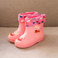 儿童雨鞋1-8岁幼儿水鞋男女童两用防滑宝宝套鞋小孩雨靴四季胶鞋