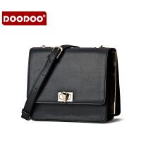 【支持礼品卡】DOODOO 2017新款包包女包时尚欧美锁扣小方包休闲百搭单肩斜跨女士包包 D5118