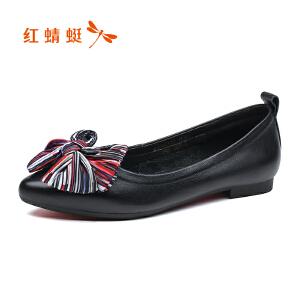 红蜻蜓女鞋秋冬皮鞋鞋子女WNB8611