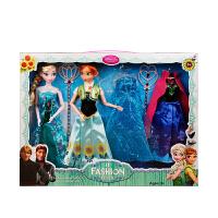 冰雪奇缘玩具艾莎公主娃娃儿童玩具爱莎娃娃女孩爱沙公主套装 *