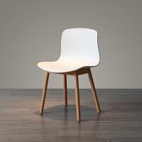 网红ins椅子 北欧实木腿简约小户型个性创意餐椅靠背椅子咖啡椅休闲椅