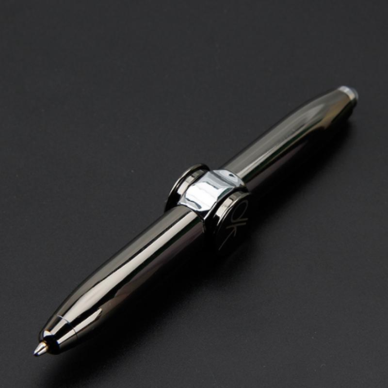 指尖陀螺多功能陀螺灯笔EDC指间螺旋金属创意趣味礼物手指陀螺笔