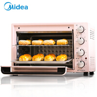 美的�烤箱家用烘焙小型多功能全自��35L升大容量烤箱
