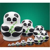 俄罗斯套娃十层纯手工熊猫娃娃10层儿童益智礼物摆件