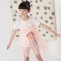 【秒杀价:39元】商场同款2017夏马拉丁女童纯色吊带公主裙连衣裙