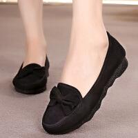 老北京女士布鞋年新款夏 大码女鞋舒适厚底豆豆老年宽脚鞋子