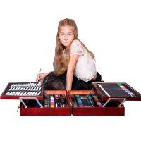 儿童美术绘画笔套装小学生水彩笔学习文具创意生日礼物画画工具箱