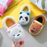 儿童棉拖鞋1-3岁冬季男童2包跟女童宝宝室内女幼儿棉鞋家居鞋