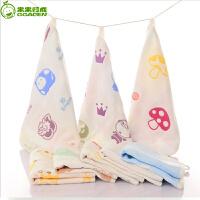 婴儿6层 方巾宝宝毛巾洗脸巾婴幼儿儿童围巾婴儿口水巾棉纱布
