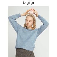 【清仓3折价149.7】Lagogo/拉谷谷2019新款文艺小清新针织衫女HCMM46YH22