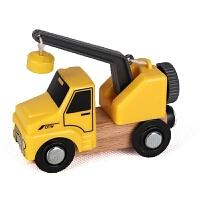 儿童磁性工程车吊车货车迷你小汽车套装玩具男孩惯性滑行车1-3岁