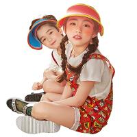 儿童防晒帽子男女童帽子夏季宝宝太阳帽小孩防晒遮阳帽女孩凉帽