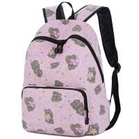 韩版书包休闲女士双肩包轻便帆布背包高中学生书包旅行时尚电脑包