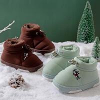 儿童棉拖鞋防水外穿包跟可爱卡通男女宝宝小孩冬季保暖毛毛绒