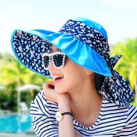 遮阳帽女士沙滩防晒太阳帽可折叠凉帽