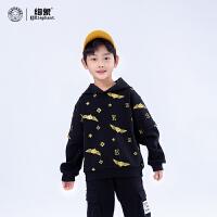 男童加�q�B帽�l衣�和��b男孩2020冬季新款加厚中大童一�w�qHK120497