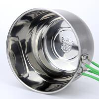 蒸饭盒304不锈钢 上班族快餐杯 大号加厚铁饭盒老式圆型