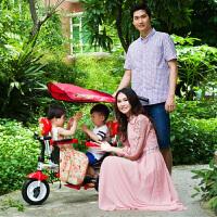 双胞胎三轮车双人儿童三轮车双胞胎脚踏车1-3岁 二胎宝宝手推车婴儿推车2-6岁LYZT63