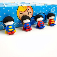 日韩创意卡通超人橡皮擦 可爱人偶橡皮学生文具奖品礼物批发