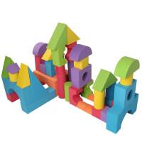泡沫积木巨号 特大泡沫积木大号3-6-7周岁海绵软体小积木幼儿园儿童玩具 淘气堡专用积木 (57) 厚10CM