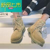 新品上市英伦风马丁靴男春季短靴工装鞋韩版百搭学生日系复古原宿